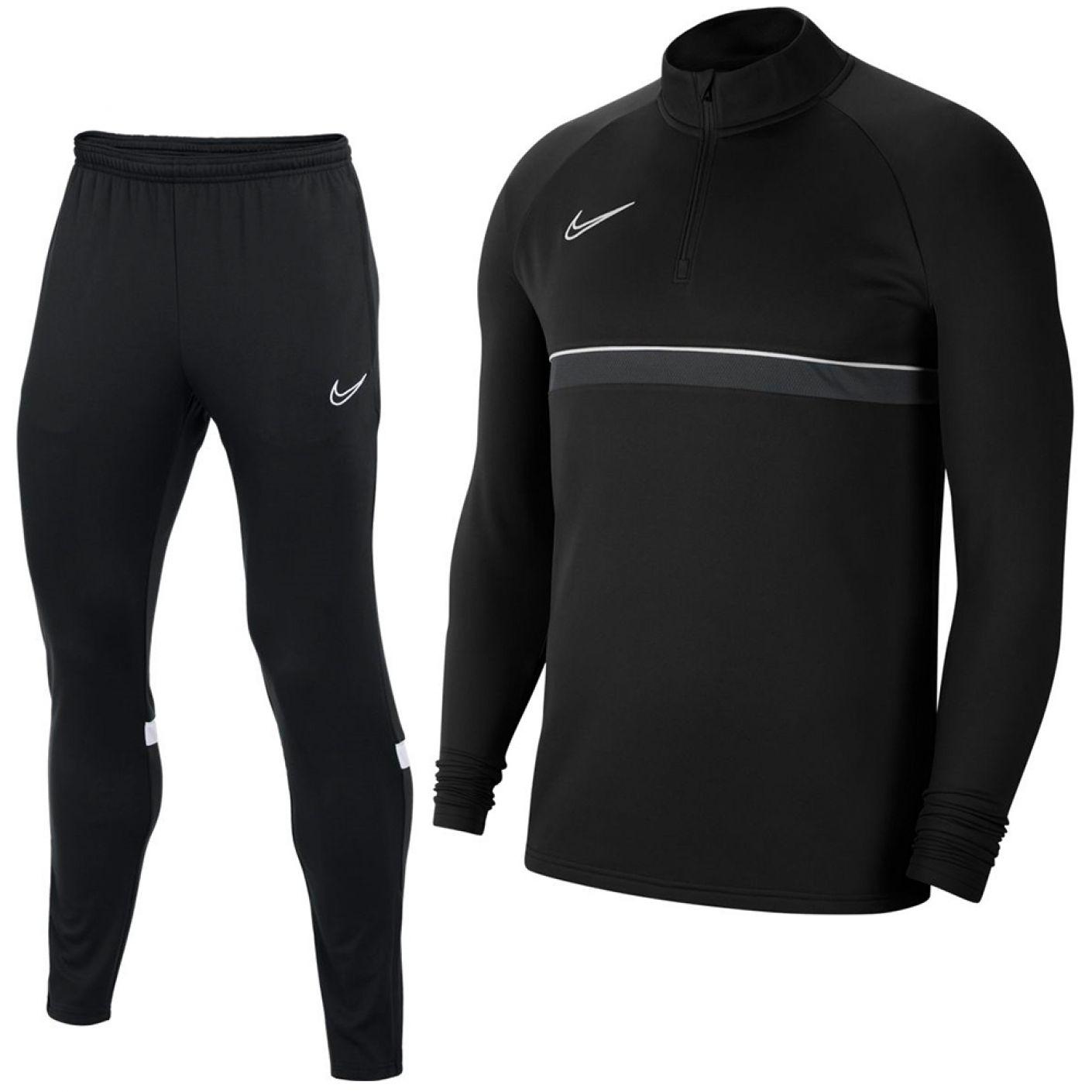 Nike Academy 21 Drill Trainingspak Zwart Grijs Wit