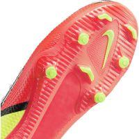 Nike Phantom GT 2 Academy Gras / Kunstgras Voetbalschoenen (MG) Kids Wit Rood Geel