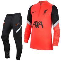 Nike Liverpool Dry Strike Trainingspak CL 2020-2021 Rood Zwart
