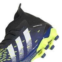 adidas Predator Freak.3 Gras / Kunstgras Voetbalschoenen (MG) Zwart Wit Geel