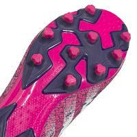 adidas Predator Freak.3 Gras / Kunstgras Voetbalschoenen (MG) Zwart Wit Roze