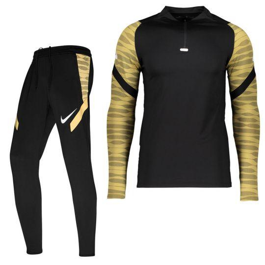 Nike Strike 21 Drill Trainingspak Zwart Goud