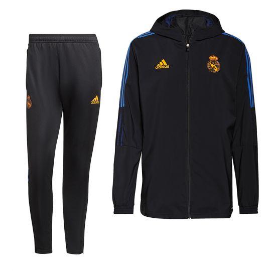 adidas Real Madrid Presentatie Trainingspak 2021-2022 Zwart