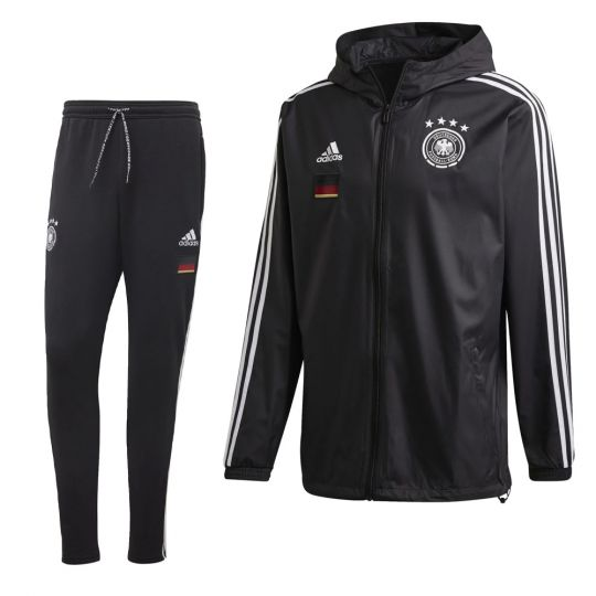 adidas Duitsland Windbreaker Trainingspak Zwart Zwart