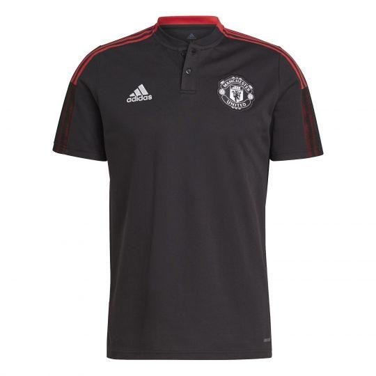 adidas Manchester United Polo 2021-2022 Zwart
