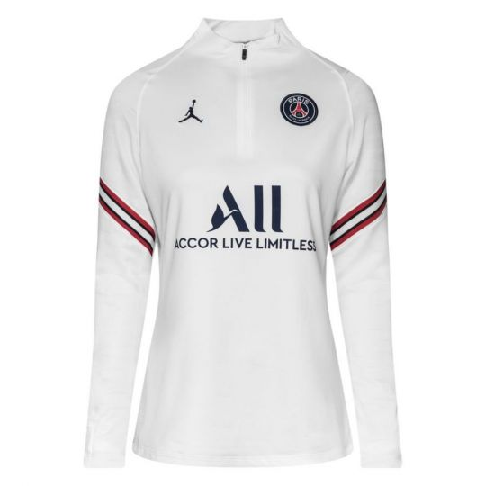 Nike Paris Saint Germain Strike Drill Trainingstrui 2021-2022 Dames Wit Donkerblauw