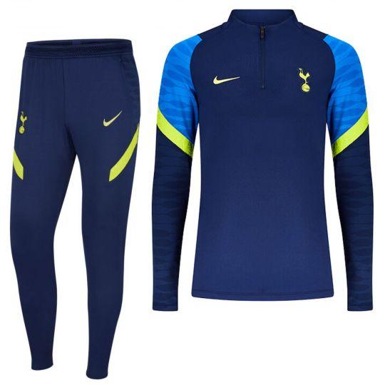 Nike Tottenham Hotspur Strike Drill Trainingspak 2021-2022 Donkerblauw Geel