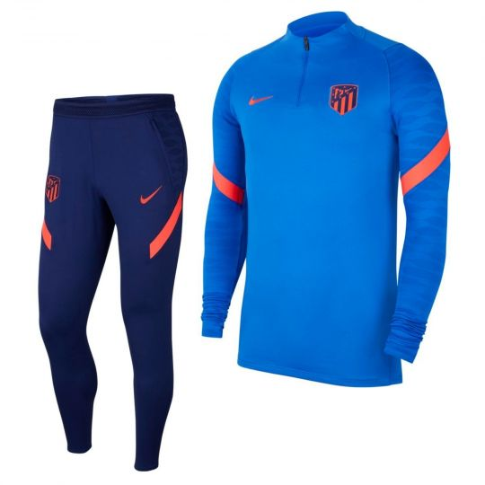 Nike Atletico Madrid Strike Drill Trainingspak 2021-2022 Blauw Donkerblauw