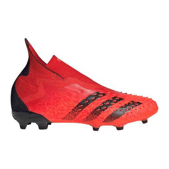 adidas Predator Freak+ Gras Voetbalschoenen (FG) Kids Rood Zwart Rood
