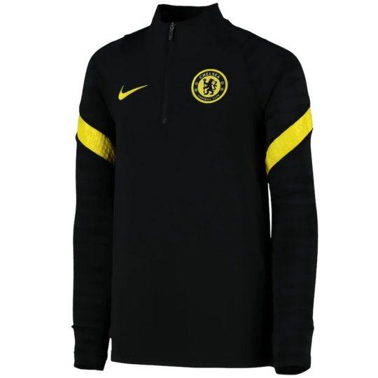 Nike Chelsea Strike Trainingstrui 2021-2022 Kids Zwart Geel