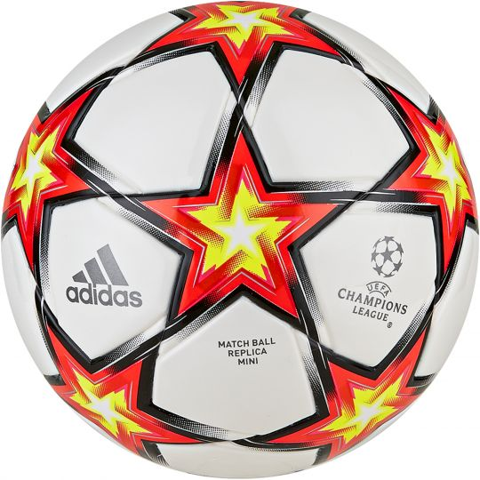 adidas Champions League Mini Voetbal Maat 1 PS Wit Rood Geel