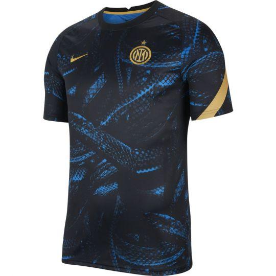 Nike Inter Milan Pre-Match Trainingsshirt 2021-2022 Blauw Zwart Goud