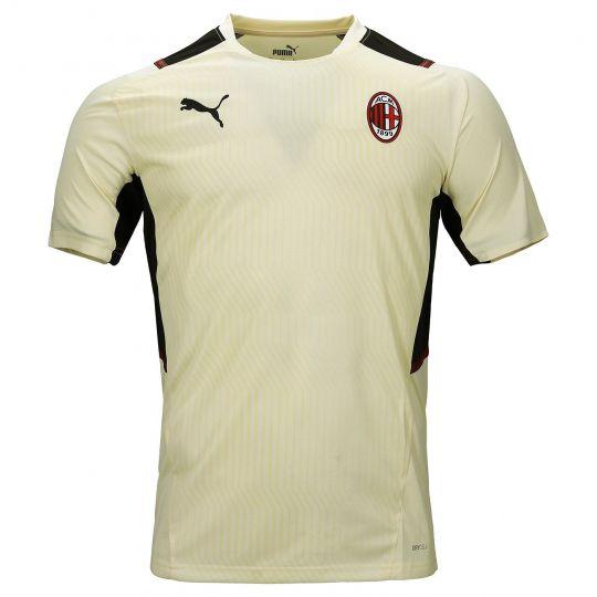 PUMA AC Milan Trainingsshirt 2021-2022 Crème Zwart