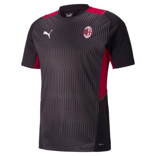 PUMA AC Milan Trainingsshirt 2021-2022 Zwart Rood