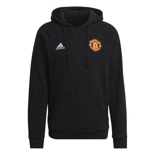 adidas Manchester United Travel Hoodie 2021-2022 Zwart
