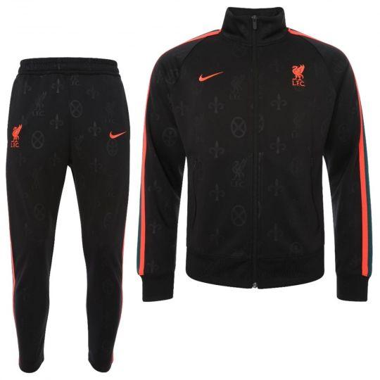 Nike Liverpool N98 Track Trainingspak 2021-2022 Zwart Rood