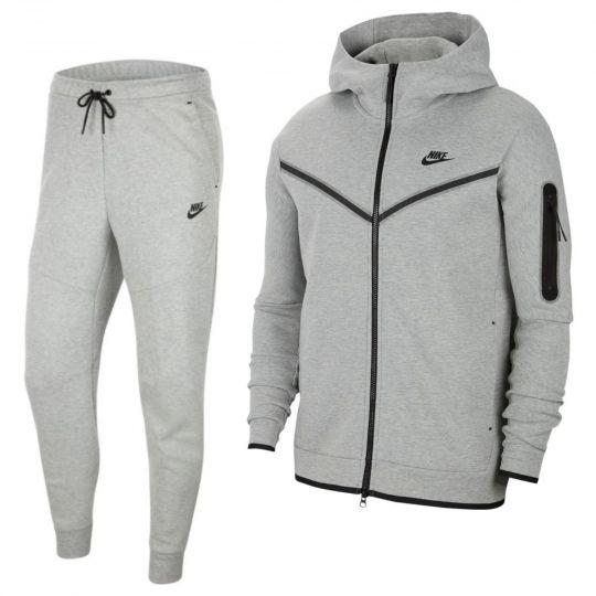 Nike Tech Fleece Trainingspak Full-Zip Grijs