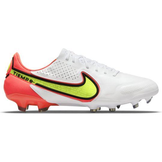 Nike Tiempo Legend 9 Elite Gras Voetbalschoenen (FG) Wit Geel Rood