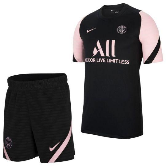 Nike Paris Saint Germain Strike Trainingsset 2021-2022 Kids Zwart Roze