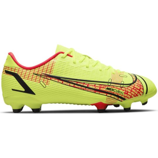 Nike Mercurial Vapor 14 Academy Gras / Kunstgras Voetbalschoenen (MG) Kids Geel Rood Zwart