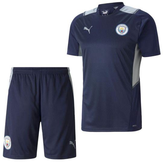 PUMA Manchester City Trainingsset 2021-2022 Donkerblauw