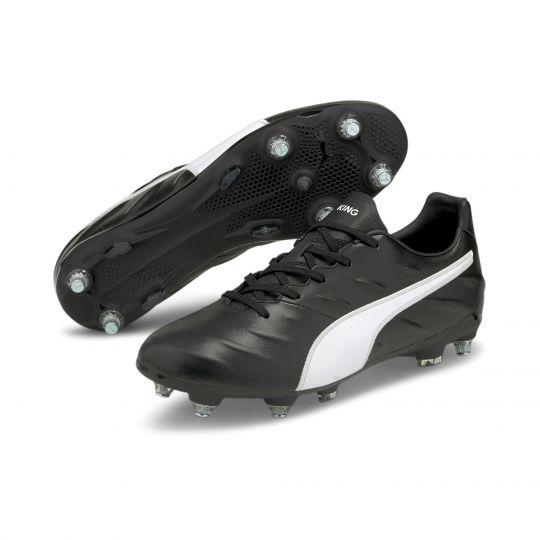 PUMA King Pro 21 Ijzeren-Nop Voetbalschoenen (MxSG) Zwart Wit