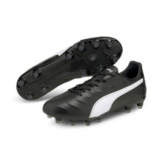 PUMA King Pro 21 Gras Voetbalschoenen (FG) Zwart Wit