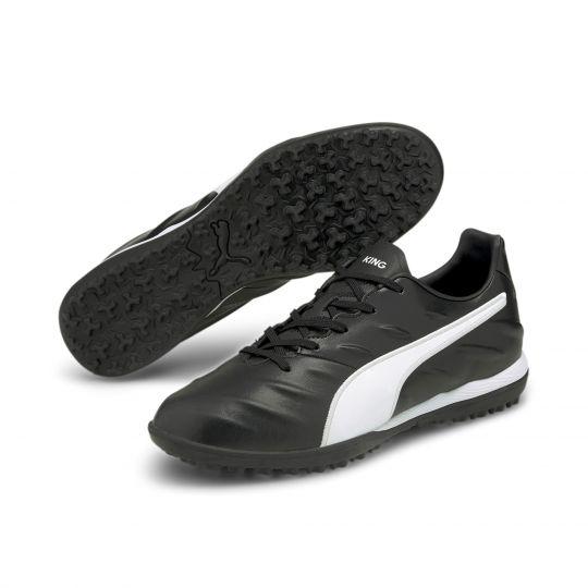 PUMA King Pro 21 Turf Voetbalschoenen (TT) Zwart Wit