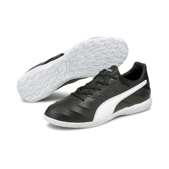 PUMA King Pro 21 Zaalvoetbalschoenen (IT) Zwart Wit