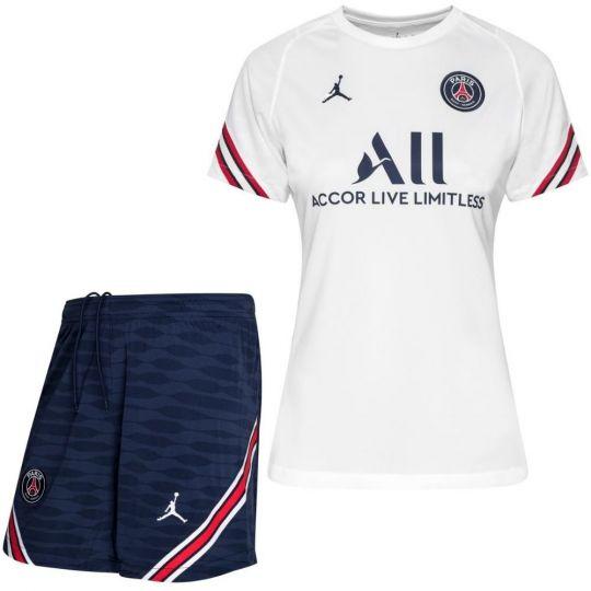 Nike Paris Saint Germain Strike Trainingsset 2021-2022 Dames Wit Donkerblauw