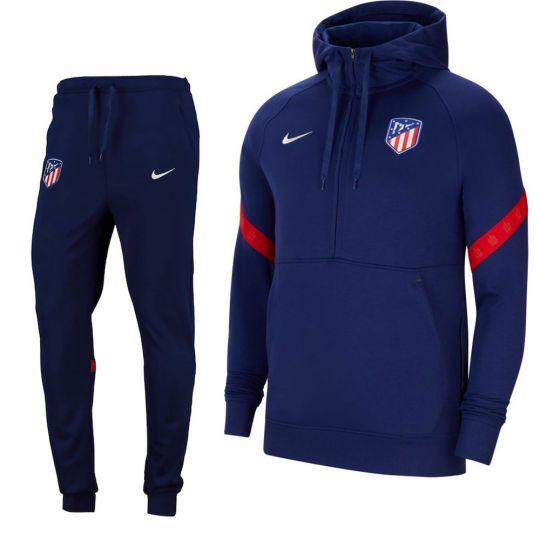 Nike Atletico Madrid Travel Fleece Trainingspak 2021-2022 Blauw Wit