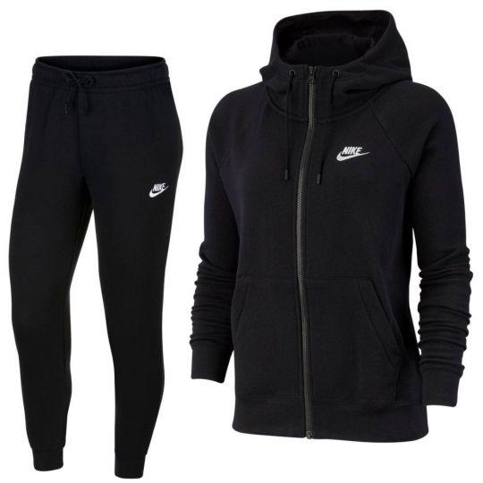 Nike Sportswear Essential Trainingspak Full-Zip Vrouwen Zwart