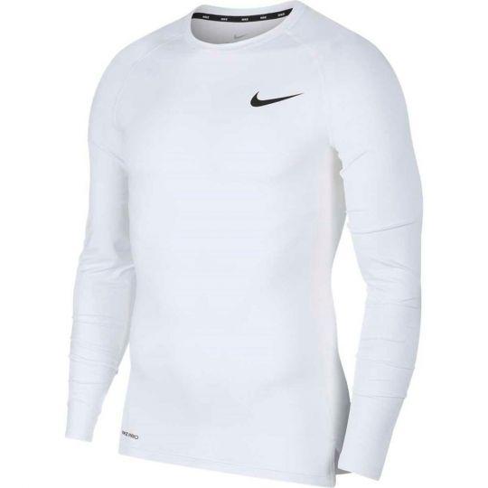 Nike Pro Ondershirt Strak Lange Mouwen Wit Zwart