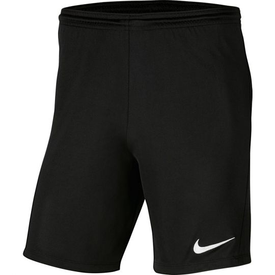 Nike Dry Park III Voetbalbroekje NB Zwart Wit