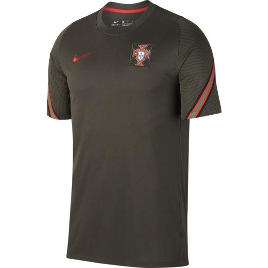 Nike Portugal Strike Trainingsshirt 2020-2022 Donkergroen Rood