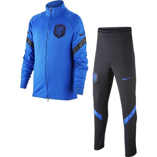 Nike Nederland Strike Trainingspak 2020-2022 Kids Blauw Zwart