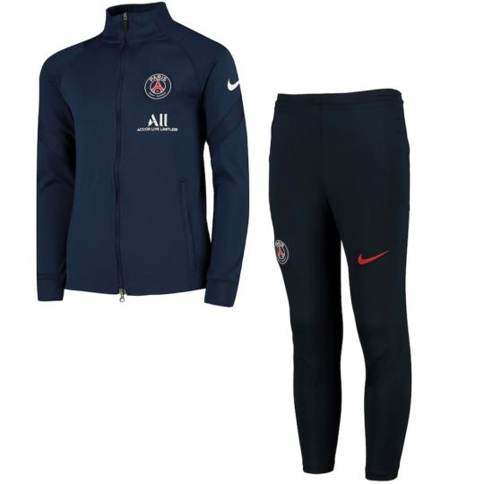 Nike Paris Saint Germain Dry Strike Trainingspak 2020-2021 Kids Donkerblauw
