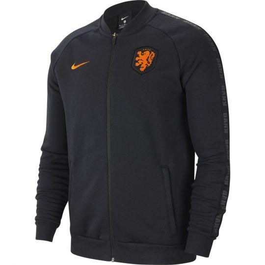 Nike Nederland GFA Fleece Trainingsjack 2020-2022 Zwart