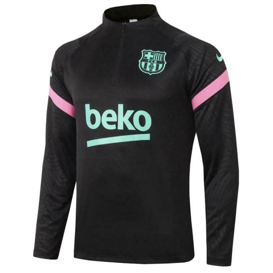 Nike FC Barcelona Dry Strike Trainingstrui 2020-2021 Kids Zwart