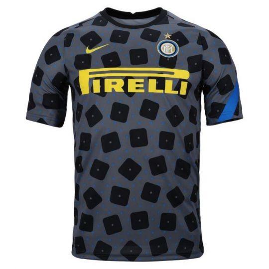 Nike Inter Milan Dry Trainingsshirt Pre Match 2020-2021 Donkergrijs
