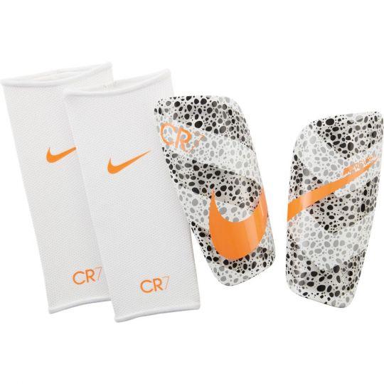 Nike CR7 Mercurial Lite Scheenbeschermers Wit Zwart Oranje