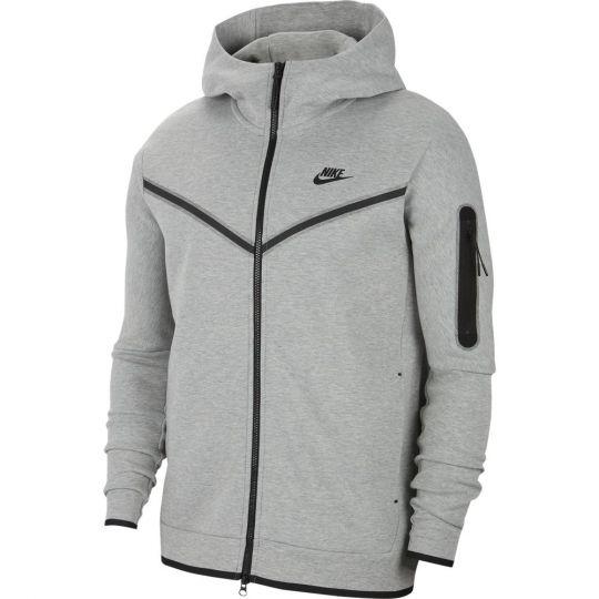 Nike Tech Fleece Hoodie Full Zip Windrunner Grijs