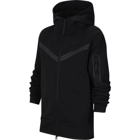 Nike NSW Tech Fleece Full Zip Hoodie Kids Zwart Zwart Zwart
