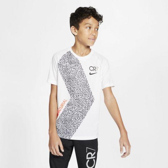 Nike CR7 Dry Trainingsshirt Kids Wit Zwart