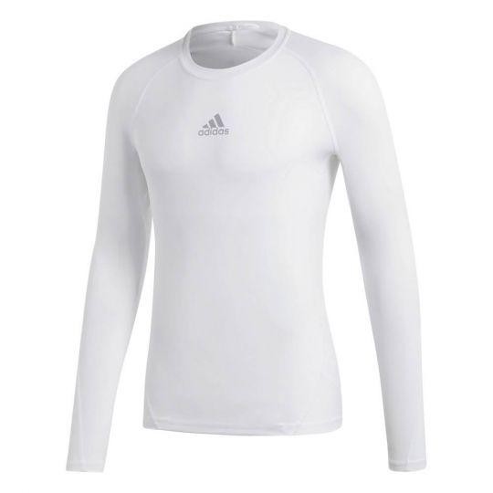adidas Alphaskin Ondershirt Lange Mouwen Kids White