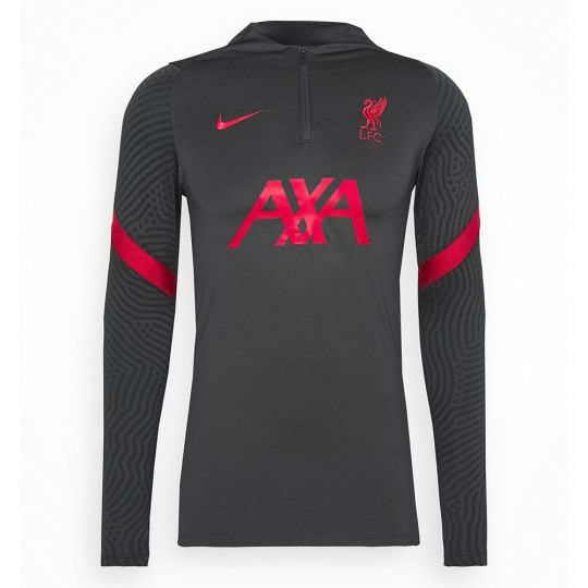Nike Liverpool Dry Strike Trainingstrui 2020-2021 Kids Antraciet