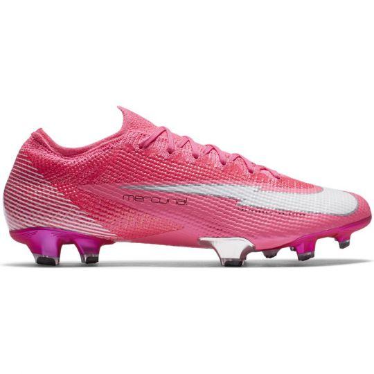 Nike Mercurial Vapor 13 ELITE KM GRAS VOETBALSCHOENEN (FG) Roze Wit