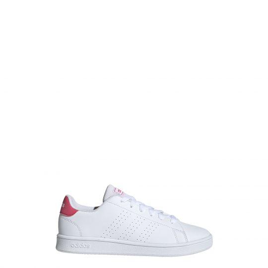 adidas Advantage Sneaker Kids Wit Roze Wit