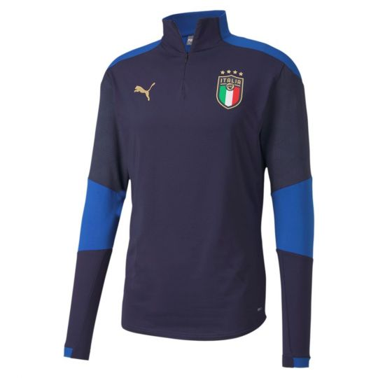 PUMA Italië 1/4 Zip Trainingstrui 2020-2022 Donkerblauw