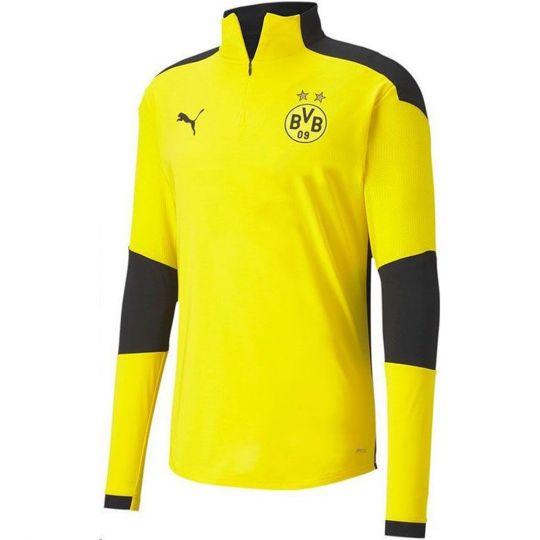 PUMA Borussia Dortmund 1/4 Zip Trainingstrui 2020-2021 Geel Zwart